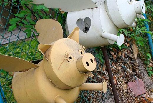 Фигурки для сада Свинки