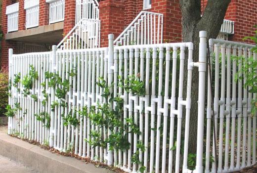 Забор для палисадника из труб