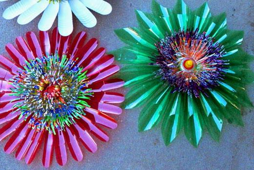 Цветы с лепестками разного объема