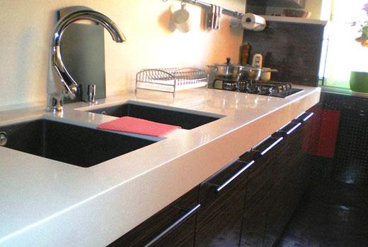 Столешница и мойки на кухне