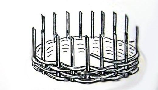 Схема плетения заборчика для клумбы
