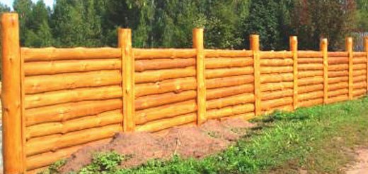 Забор из шлифованного горбыля