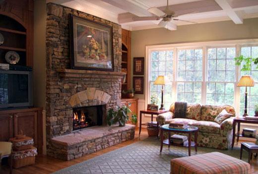 Роскошный интерьер деревянного дома