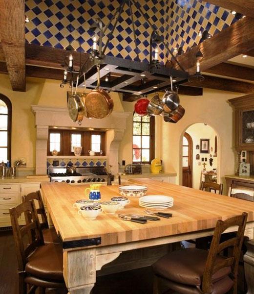 Стиль кантри кухня деревянного дома