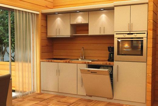 Встроенная мебель в деревянном доме