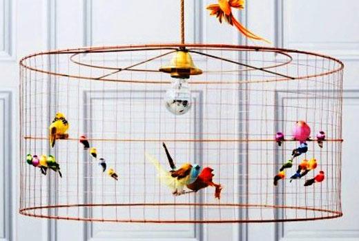 Люстра своими руками с птицами