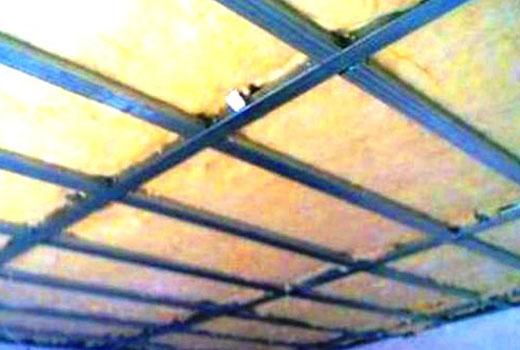 Минераловатное утепление потолка