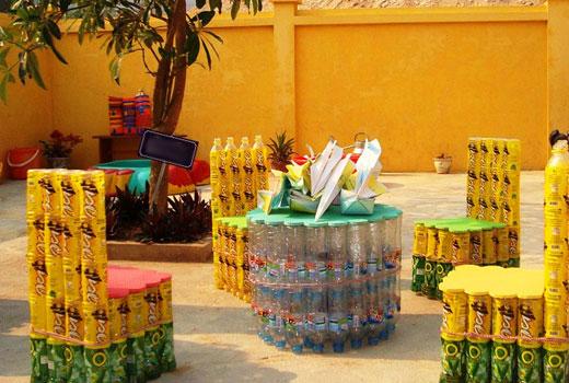 Мебель из пластиковых бутылок