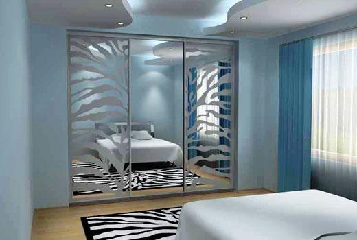 Шкаф купе - пескоструйный декор на зеркалах