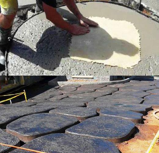Выравниваем поверхность плит и проводим железнение