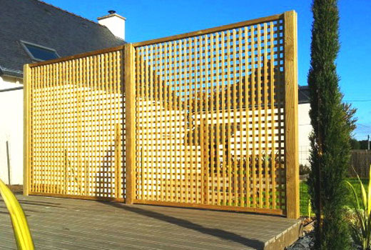 Забор прямая решетка