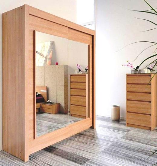 Шкафчик купе зеркальный