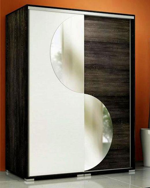 Фигурные дверки из зеркал для раздвижного шкафа