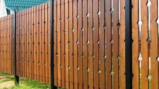 забор без фундамента из декоративных планок