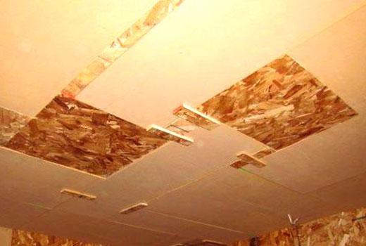 Вставки в потолок двп