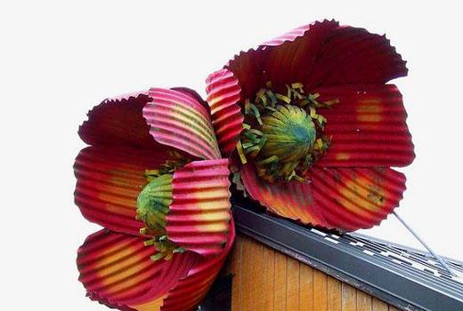 Крупные цветы из оцинковки