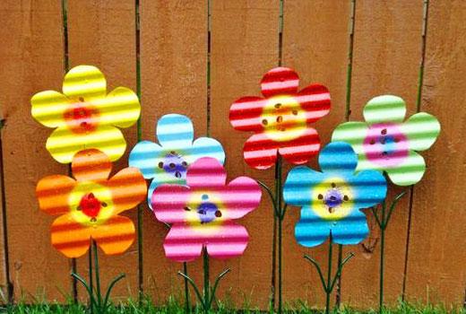 Цветочки из профилированной оцинковки