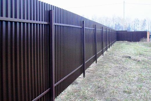 Забор из профлиста без фундамента