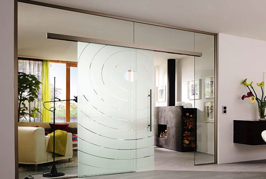 Двери стеклянные с напылением