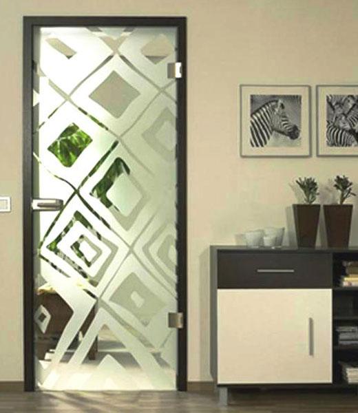 Узорчатое стекло в дверях - напыление
