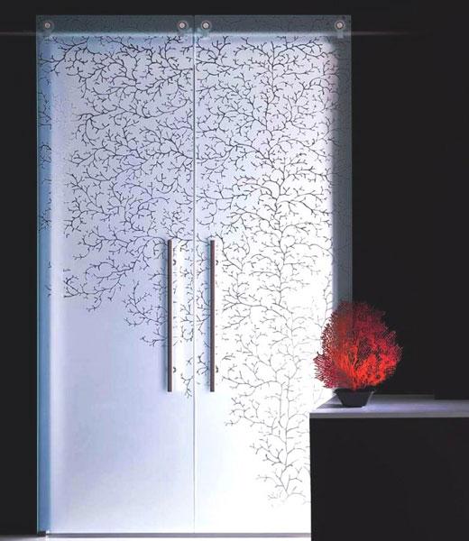 Орнамет на матовой поверхности стекла
