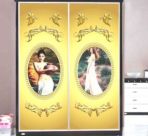 Нарядный декор стеклянной двери