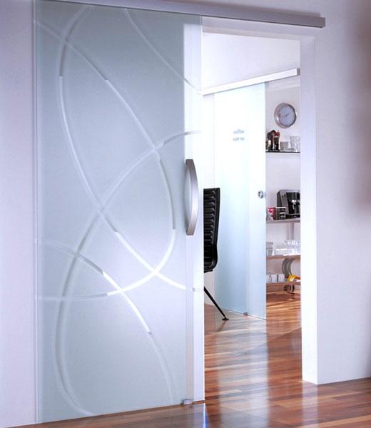 Стеклянные двери откатные