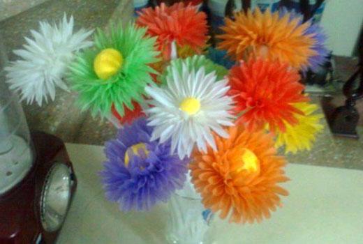 Букет пластиковых цветов