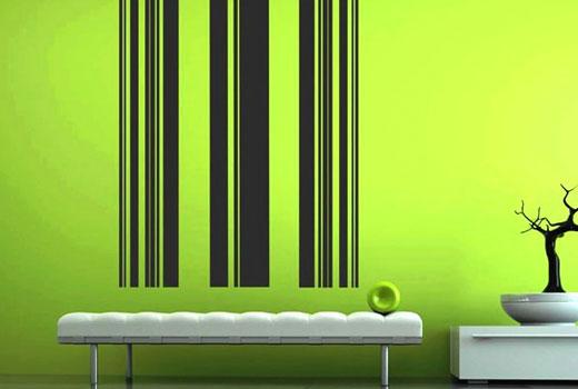 Полосы на стенах напоминают штрих-код