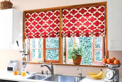 Кухонные тканевые роллеты