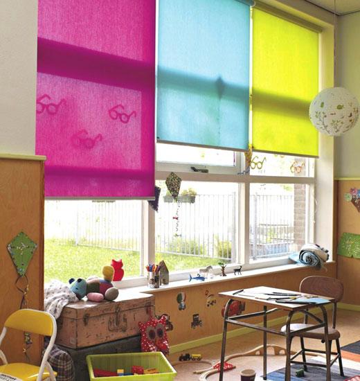 Разноцветные ролеты из ткани