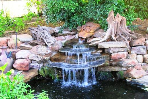 Водопад из камня пластушки
