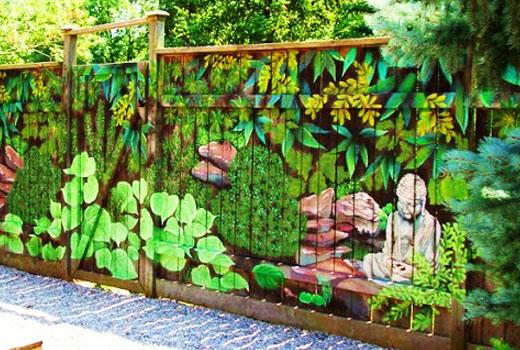 Забор будда