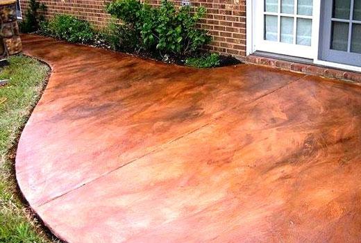 Протравливание бетона