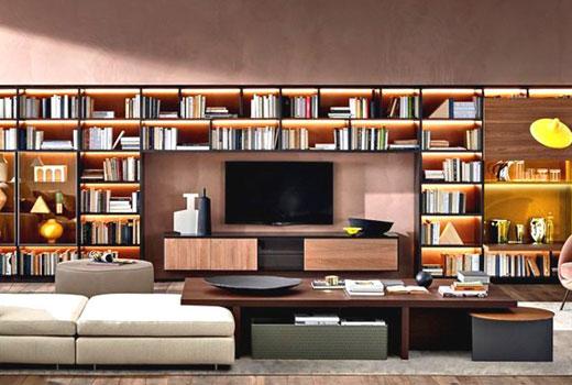 Мебельный гарнитур со стеллажами для книг