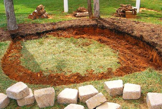 Подготовка площадки под брусчатку
