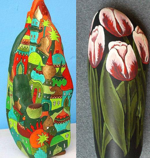 Украшения для сада из камней: мастер класс росписи, фото, 20 идей - каталог статей на сайте - ДомСтрой