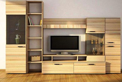 Оригинальная мебельная стенка для общей комнаты