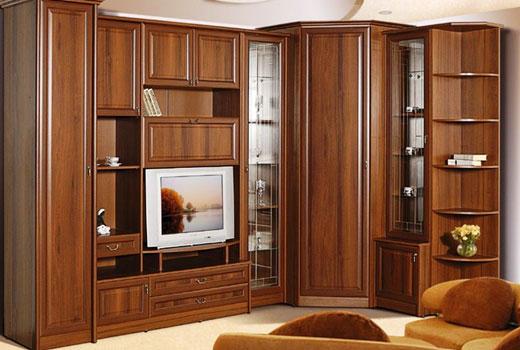Мебельная стенка с угловым шкафом