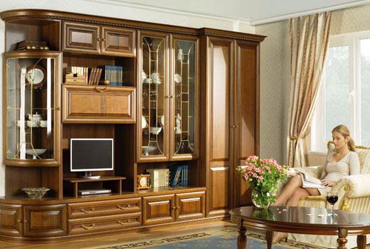 Мебель классическая стенка в гостиную
