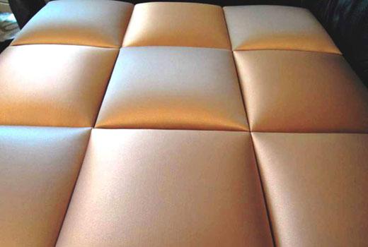 Стеновые панели мягкие из кожзаменителя