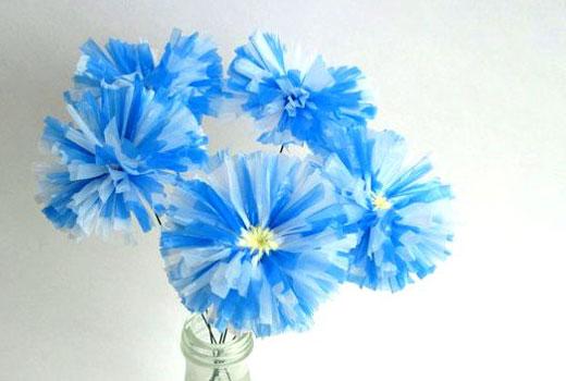 Поделки цветы для сада