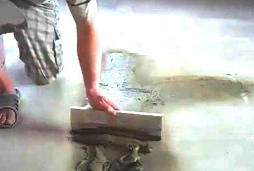 Шпаклевание бетонного пола