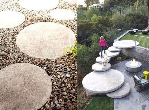 Плиты для ступенек в саду
