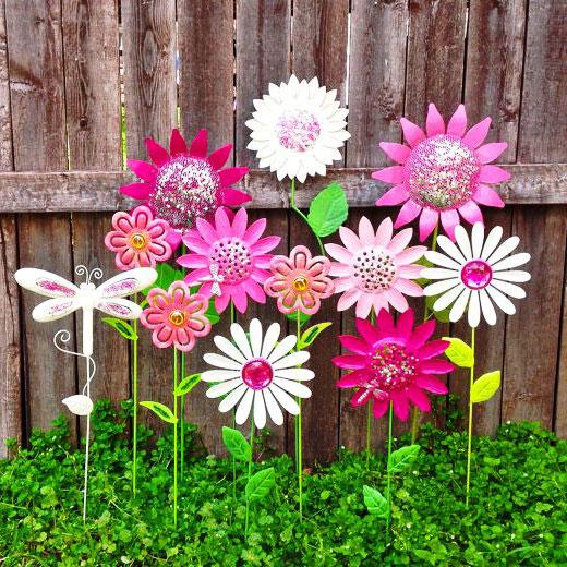 Поделки для сада цветы
