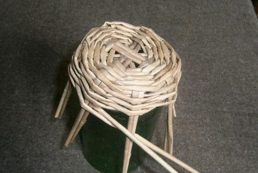 Плетем стенки корзинки вкруговую