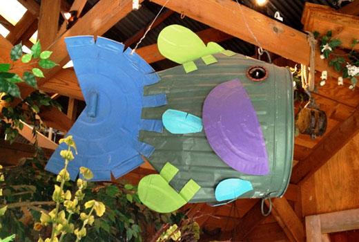 Подвесная рыба для сада