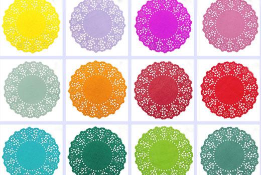 Цветные сервировочные салфетки бумажные