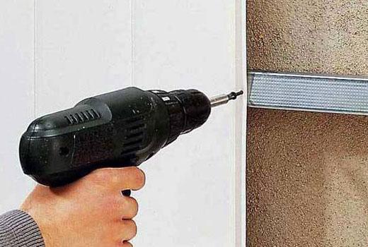 Крепление стеновых панелей саморезами