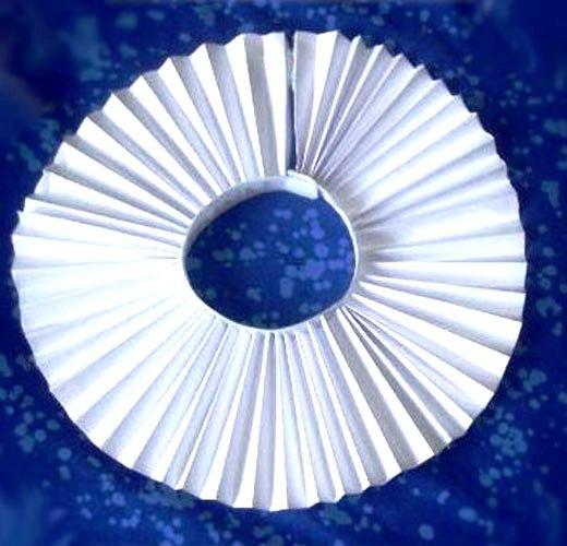 Горфрированый круг бумаги